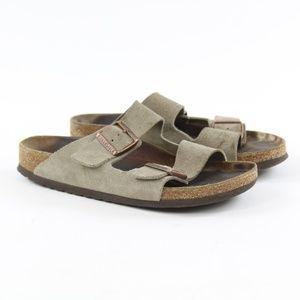 Birkenstock Arizona Suede Slide Sandals Sz 40